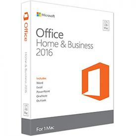 Microsoft Office 2016 Home and Business MAC - Box Pack 1 License