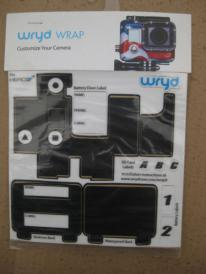 Camera Wrap / Skin for GOPRO H3+ by WRYD - BLACK