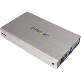 StarTech 3.5in Silver USB 3.0 External SATA III Hard Drive Enclosure